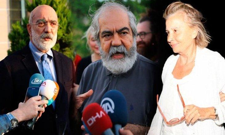 Veteran journalists Ahmet Altan (L), Mehmet Altan (C) and Nazlı Ilıcak are seen in this file photo.